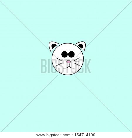 cat icon vector idea on blue background