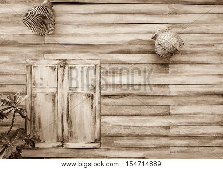 A Handcrafted Wooden Wall