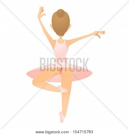 Ballerina icon. Flat illustration of ballerina vector icon for web