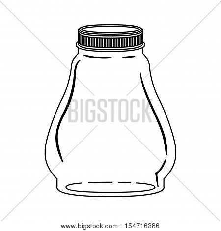 silhouette glass container with lid vector illustration