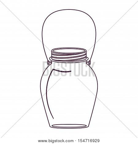 silhouette glass jar decorative with handle vector illustration