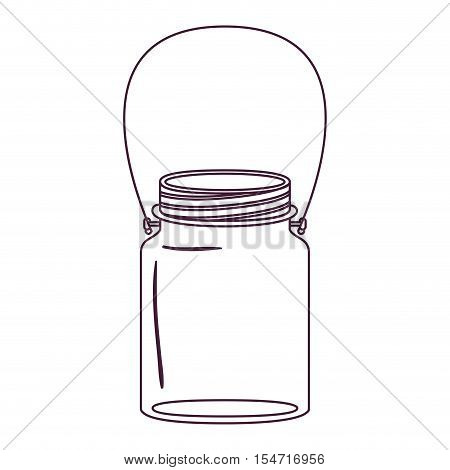 silhouette jar of jam with handle vector illustration
