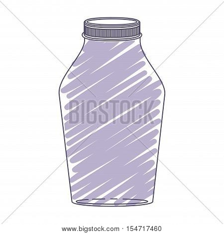 silhouette glass jar with purple stripes vector illustration