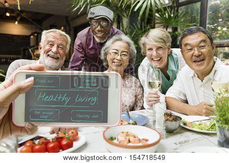 Healthy Living Fresh Air Exercise Sleep Diet Concept