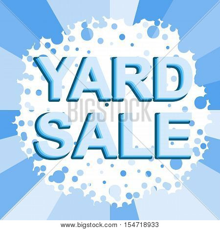 Big winter sale poster with YARD SALE text. Advertising blue  banner template