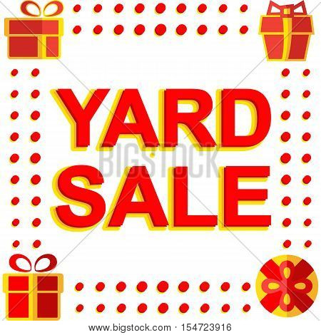 Big winter sale poster with YARD SALE text. Advertising  banner template