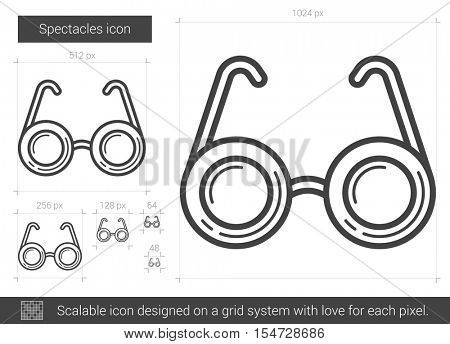 Spectacles vector line icon isolated on white background. Spectacles line icon for infographic, website or app. Scalable icon designed on a grid system.