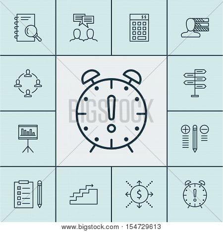 Set Of Project Management Icons On Investment, Money And Growth Topics. Editable Vector Illustration