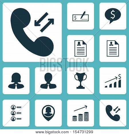 Set Of Hr Icons On Job Applicants, Coins Growth And Female Application Topics. Editable Vector Illus