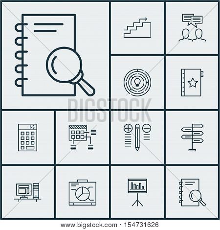 Set Of Project Management Icons On Schedule, Warranty And Opportunity Topics. Editable Vector Illust