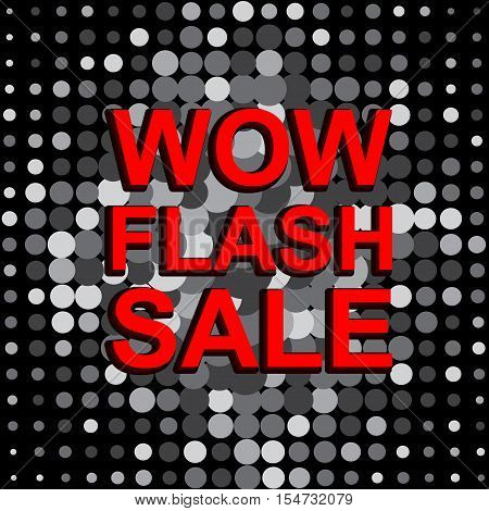 Big Sale Poster With Wow Flash Sale Text. Advertising Banner