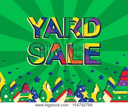 Big Winter Sale Poster With Yard Sale Text. Advertising Banner