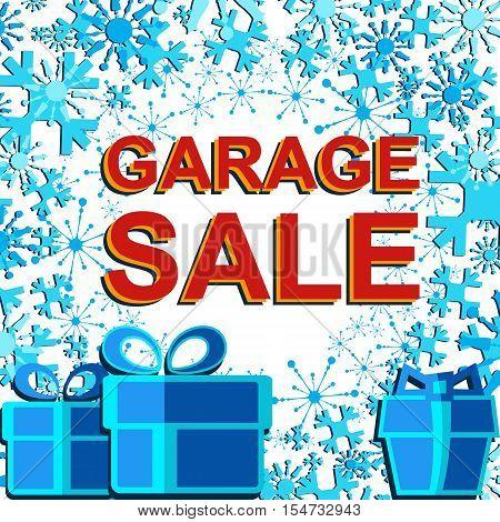 Big Winter Sale Poster With Garage Sale Text. Advertising Banner