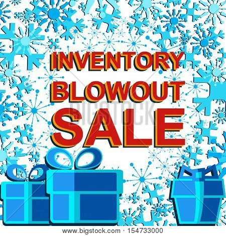 Big Winter Sale Poster With Inventory Blowout Sale Text. Advertising Banner