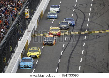 Martinsville, VA - Oct 30, 2016: Jamie McMurray (1) battles for position during the Goody's Fast Relief 500 at the Martinsville Speedway in Martinsville, VA.