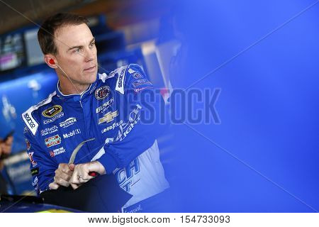 Martinsville, VA - Oct 28, 2016: Kevin Harvick (4) hangs out in the garage during practice for the Goody's Fast Relief 500 at the Martinsville Speedway in Martinsville, VA.