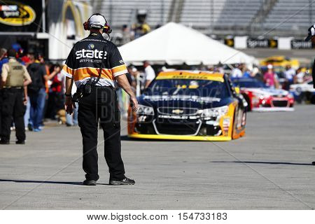 Martinsville, VA - Oct 29, 2016: Kurt Busch (41) brings his race car in for service during practice for the Goody's Fast Relief 500 at the Martinsville Speedway in Martinsville, VA.