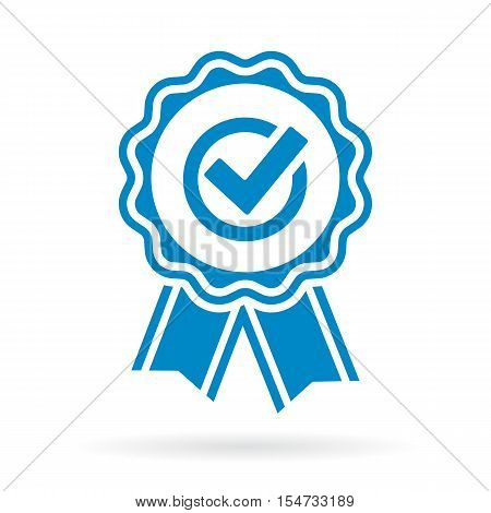 Guarantee approval certificate icon vector illustration isolated on white background