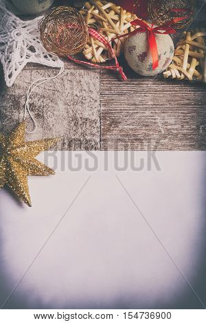 Letter To Santa With Christmas Ornaments Arround