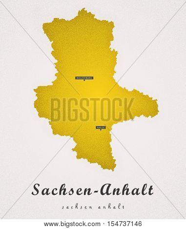 Sachsen Anhalt Germany DE Art Map illustration