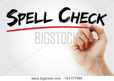 Hand Writing Spell Check With Marker