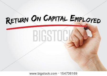 Hand Writing Return On Capital Employed