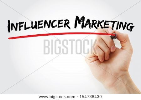 Hand Writing Influencer Marketing With Marker