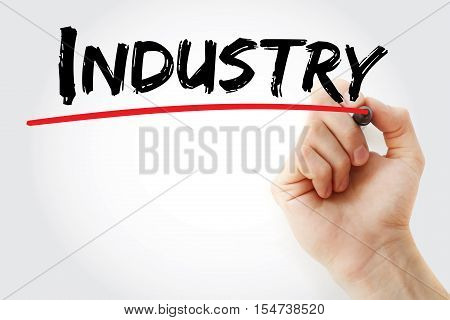 Hand Writing Industry With Marker