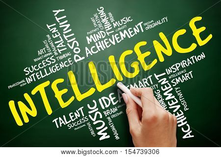 Intelligence word cloud collage , education concept