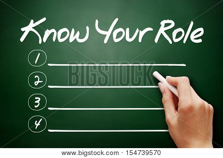 Hand Drawn Know Your Role, Business Concept