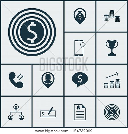 Set Of Hr Icons On Messaging, Pin Employee And Money Navigation Topics. Editable Vector Illustration