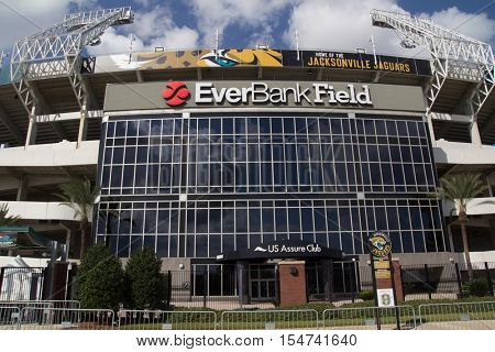 JACKSONVILLE, FL - OCTOBER 26, 2016: EverBank Field in Jacksonville. EverBank Field is an American Football Stadium in downtown Jacksonville.