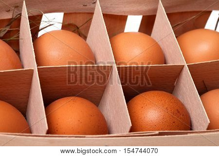 Brown Fresh Eggs In Eco-box
