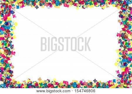 Colorful Confetti In Rectangular Frame