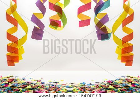 Hanging Paper Streamer And Confetti