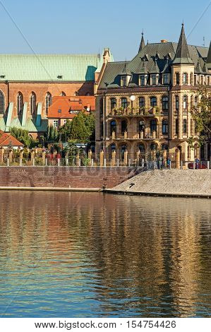 Tumski island in Wroclaw, Poland, Eastern Europe