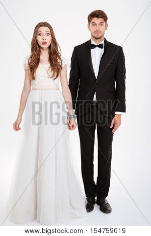 Couple in chain. Full lenght
