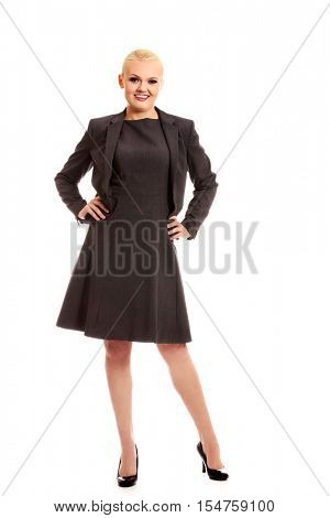 Beautiful young smile blonde business woman