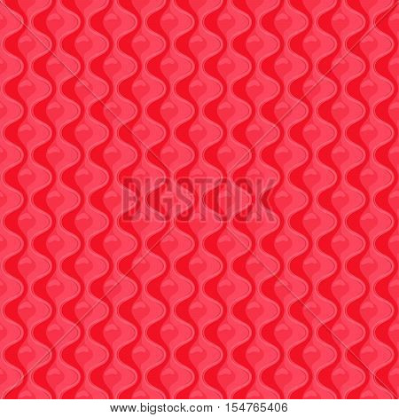 Red Seamless quilted pattern . Vector illustration