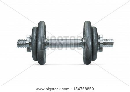 Dumbbell isolated on a white background. Fitness concept.