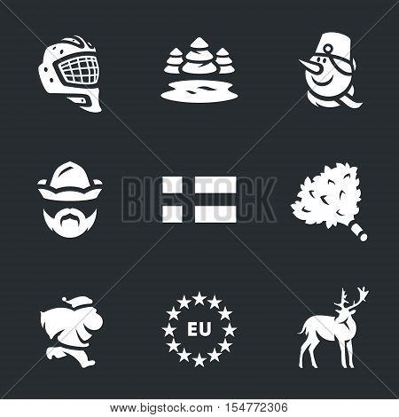 Hockey helmet, nature, snowman, attendant, Finnish flag, bath broom, santa claus, Europe, deer.