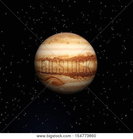 Digital 3D Illustration of the Planet Jupiter