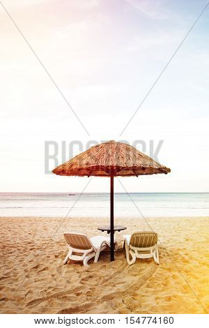 Sea Coast Resort With Two Chaise-longues