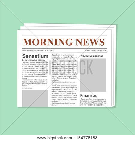 Newspaper journal vector template. Daily paper flat illustration vector