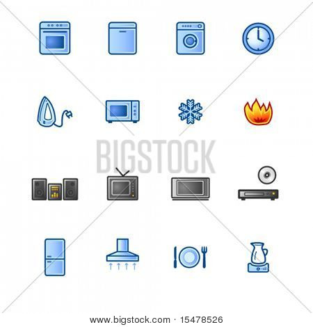 colorful household goods icons