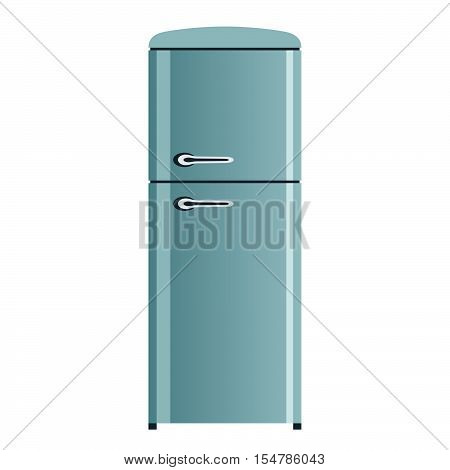 Two compartment household refrigerator on white background