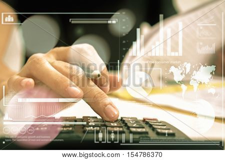 Recheck Document Or Planing Data For Business Market Target And About Accounting Staff Recheck Data