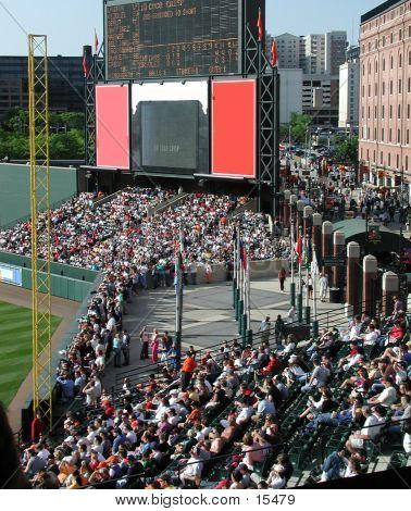 Inside A Baseball Stadium