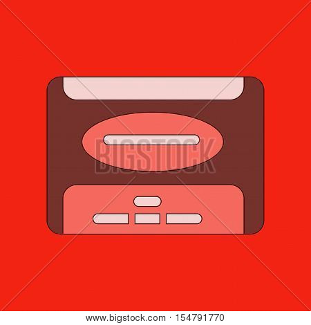 flat illustration on stylish background removable hard drive