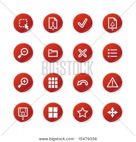 red sticker viewer icons